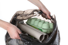 Rubbish segregation Stock Photography