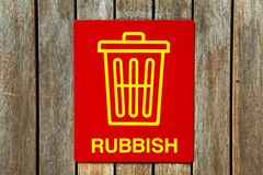 Rubbish sign Royalty Free Stock Image