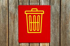 Rubbish sign Stock Image