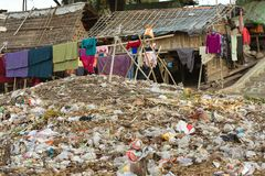 Rubbish in slum area Royalty Free Stock Photography