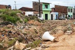 Rubbish in a suburban neighborhood Stock Photo