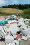 Rubbish Tip. Rubbish dumped by the side of a country road Stock Image