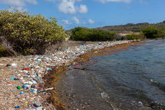 Rubbish - Views around Curacao Caribbean island Stock Photography