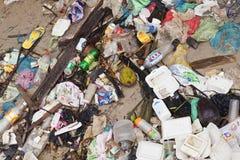 Rubbish at a village in Sandakan, Malaysia Stock Photo