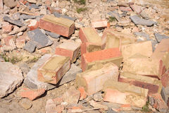 Rubble and bricks Royalty Free Stock Images