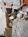 Rubble close-up stock photos