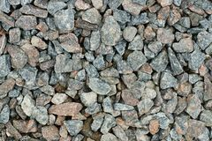 Rubble for construction works Royalty Free Stock Image