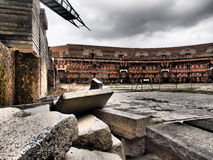 Rubble in  court yard of the former Nazi Party congress building Royalty Free Stock Photos
