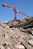 Rubble and crane Royalty Free Stock Photo