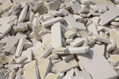 Rubble From A Demolished Building Royalty Free Stock Photography