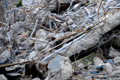 Rubble of a demolished building Stock Photo