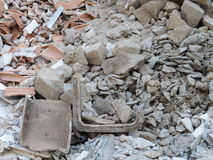 Rubble from demolition Stock Photos
