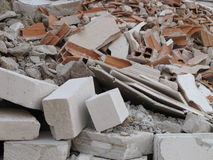 Rubble from demolition Royalty Free Stock Photos