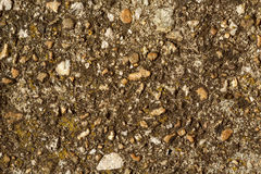 Rubble, gravel and pebbles concrete texture. Environmentally friendly construction concept Stock Photography
