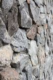 Rubble gray and brown stone wall, rubblework.  Stock Images