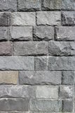 Rubble gray rectangular stone wall, rubblework Royalty Free Stock Photo