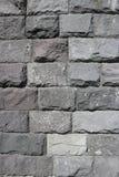 Rubble gray rectangular stone wall, rubblework Stock Image