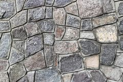 Rubble gray stone wall, rubblework. Rubble gray stone wall, rubblework Stock Image