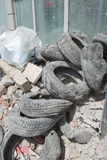 Rubble and Old Tires Stock Images