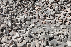 Rubble Pile of Bricks Stock Images