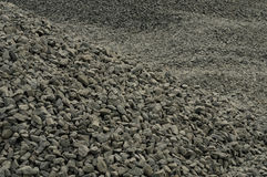 Rubble. Pile of rubble on construction area. Close-up Stock Images