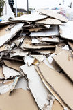 Rubble. plasterboard in the container Royalty Free Stock Photo