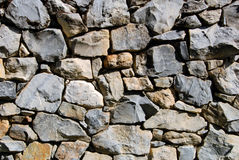 Rubble Rock Wall Royalty Free Stock Photos
