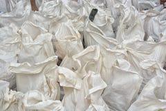 Rubble sacks Stock Photo