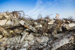 Rubble and scrap after demolition Royalty Free Stock Photos