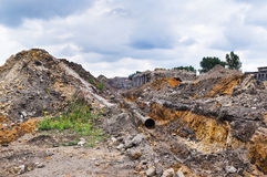Rubble and scrap after demolition Stock Photography
