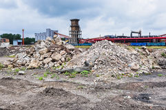 Rubble and scrap after demolition Royalty Free Stock Image