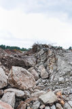 Rubble and scrap after demolition Royalty Free Stock Photo