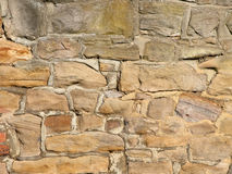 Rubble stone wall background Stock Photos