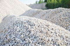 Rubble and stones. Pile of rubble and stones Stock Photography