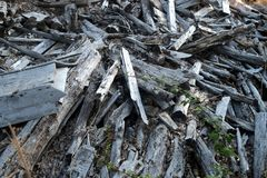 Rubble, wood debris royalty free stock photos