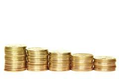 Rubel auf einem weißen Hintergrund Stockbild
