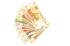 Rubel och hryvnia $ 50 Royaltyfria Foton