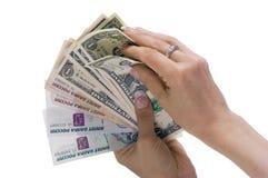 Rubel und Dollar Lizenzfreies Stockbild