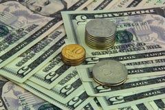 Rubel und Dollar Stockfotografie