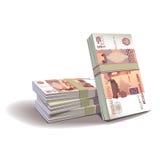 Rubelbanknoteabbildung, Finanz stock abbildung