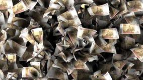 Rubelbanknoten in einem Stapel Stockbilder