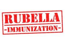 RUBELLA IMMUNIZATION. Red Rubber Stamp over a white background Stock Image