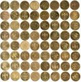 Rubelmünzen auf weißem Hintergrund Lizenzfreie Stockfotos