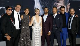 Ruben Fleischer, Riz Ahmed, Jenny Slate, Tom Hardy and Michelle Williams royalty free stock images