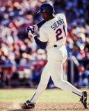Ruben Sierra, Texas Rangers DE Imagenes de archivo
