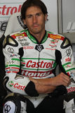 Ruben Xaus - Honda CBR1000RR - Castrol Honda. In the world Superbike Championship SBK Royalty Free Stock Photos