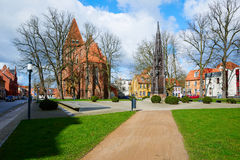 Rubenow Memorial. Greifswald Stock Images