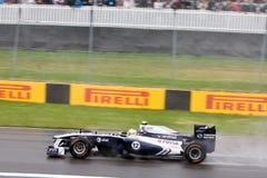 Rubens Barrichello die bij de Grand Prix van Montreal rent Stock Fotografie