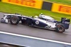 Rubens Barrichello die bij de Grand Prix van Montreal rent Stock Afbeeldingen
