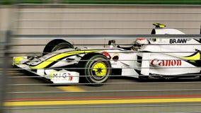 Rubens Barrichello qualifying at Singapore F1 2009 Royalty Free Stock Photo